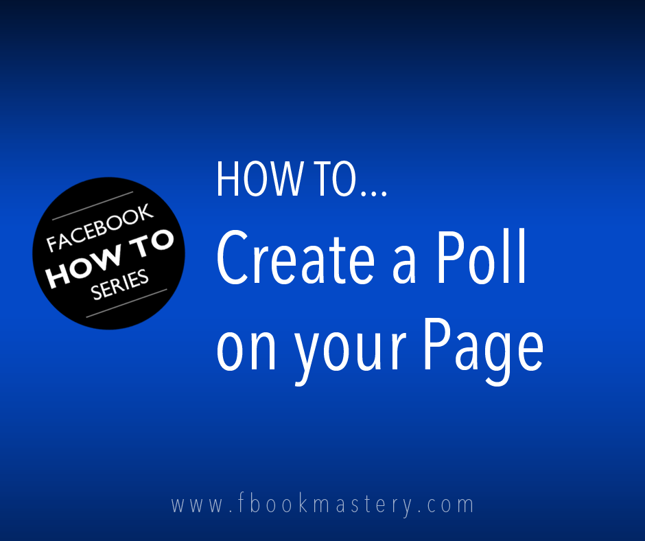 How to Create a Poll on your Page