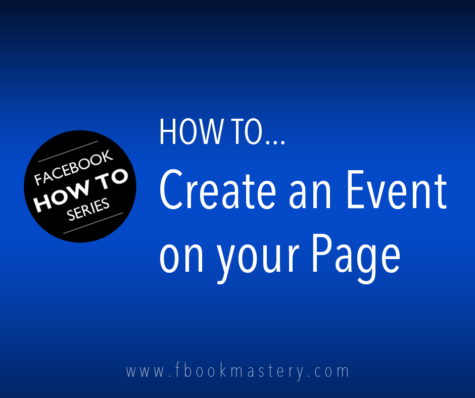 How to Create an Event for your Page
