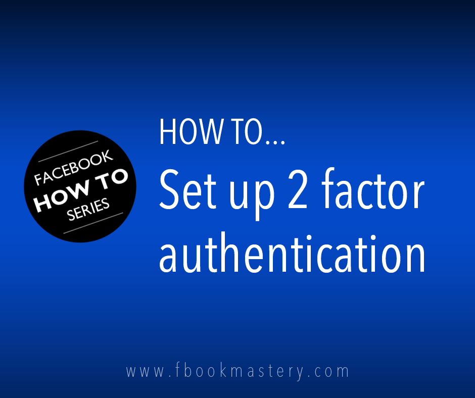 How to turn on 2 factor authentication