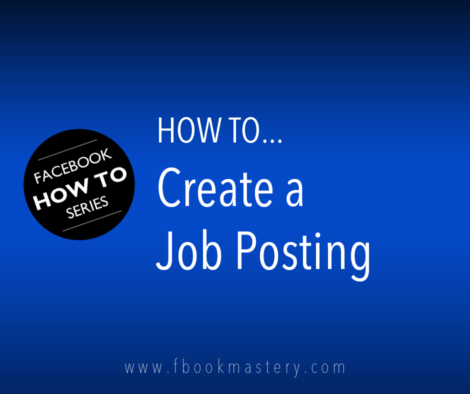 How to Create a Job Posting