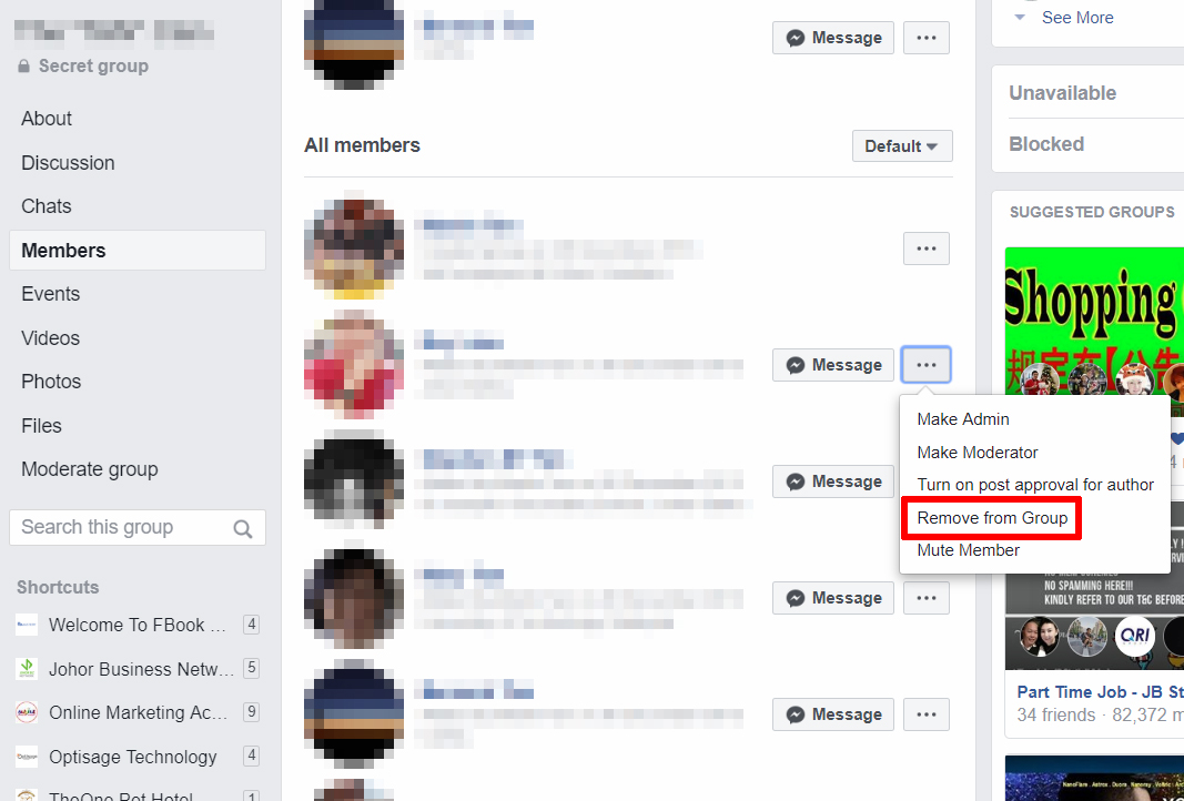 How to Remove or Block a member from your Facebook Group - FB Mastery