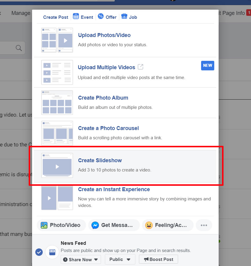 FBook Mastery - create FB Post with slideshow with music