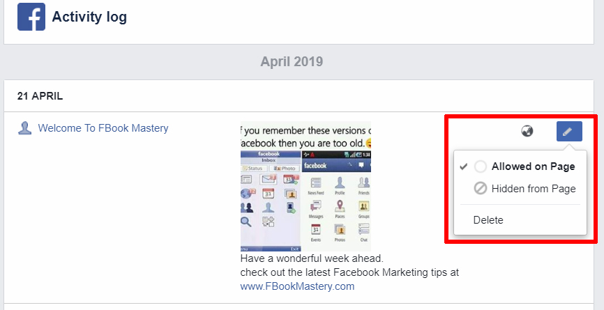 How to View Your Business Page's Activity Log - FB Mastery